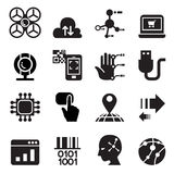 Computer & insieme elettronico dell'icona di tecnologia Immagine Stock Libera da Diritti