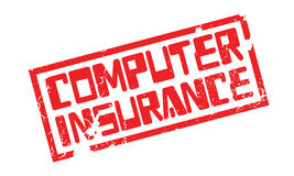 Computer Insurance rubber stamp Royalty Free Stock Images