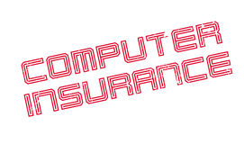 Computer Insurance rubber stamp Royalty Free Stock Photography