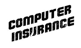 Computer Insurance rubber stamp Royalty Free Stock Photos