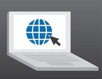 Computer-Internet stock abbildung