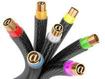 Computer internet cables Royalty Free Stock Photography