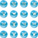Computer and Internet Icons Royalty Free Stock Photos