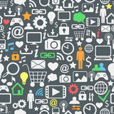 Computer and internet icons seamless pattern Royalty Free Stock Image
