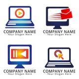 Computer Internet Media Logo / icon concept Stock Images