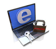 Computer-Internet protection Royalty Free Stock Photography