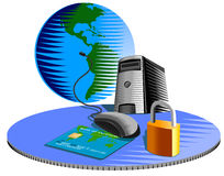 Computer internet security stock illustration