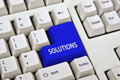 Computer internet Solutions. Turn key solutions are easy with this key Stock Photos