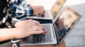 Computer internet technology online education Royalty Free Stock Photos
