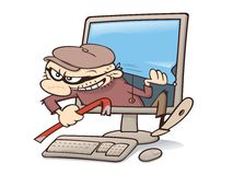 Computer intruder Stock Photo