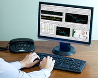 Computer Investing Royalty Free Stock Photo