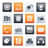 Computer Items and Accessories icons over color background. Vector icon set vector illustration