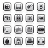 Computer Items and Accessories icons Stock Photography