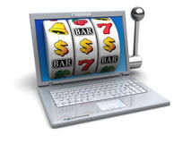 Computer jackpot Royalty Free Stock Image