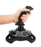 Computer joystick with hand Royalty Free Stock Photos