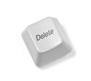 Computer key button Royalty Free Stock Images