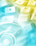 Computer key with DVD Stock Images