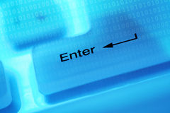 Computer key enter Stock Photo