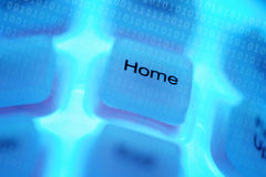 Computer key Home Stock Photo