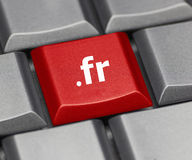 Computer key - Internet suffix of France Royalty Free Stock Images