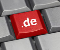 Computer key - Internet suffix of Germany Royalty Free Stock Photo