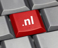 Computer key - Internet suffix of The Netherlands Stock Photos