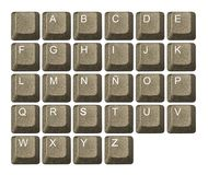 Computer key in a keyboard Stock Photo