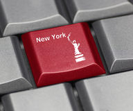 Computer Key - New York Royalty Free Stock Images