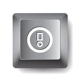 Computer key. Notice Stock Photography