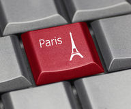 Computer Key - Paris Royalty Free Stock Image