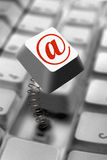 Computer Key Springing Up. With E-Mail Internet Icon Royalty Free Stock Image