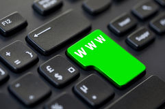 Computer key with text www green Royalty Free Stock Image