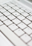 Computer keyboard. A close-up on the center of a computer keyboard Stock Photo