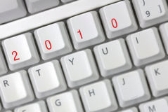 Computer keyboard with 2010 keys Royalty Free Stock Images