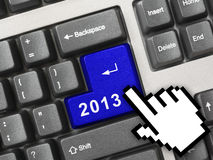 Computer keyboard with 2013 key Stock Photos