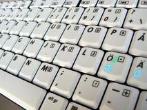 Computer Keyboard. Close-up view of a computer keyboard at an angle Royalty Free Stock Images