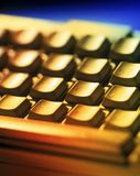 Computer Keyboard. With a yellow tone Stock Image