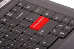 Computer keyboard. With a red button - Start a business Royalty Free Stock Images