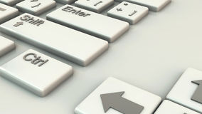 Computer keyboard in 3d Stock Photography