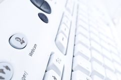 Computer Keyboard. Close up of a white computer keyboard Stock Photography