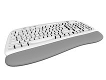 Computer keyboard. A computer keyboard and wrist pad royalty free illustration