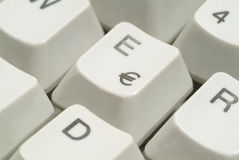 Computer Keyboard. With Euro Key Royalty Free Stock Image