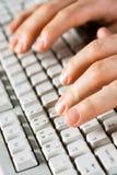Computer keyboard. Vertical image of computer keyboard Royalty Free Stock Photo