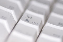 Computer keyboard. A close up of a key on a computer keyboard Stock Photography