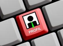 Computer Keyboard - Account german Stock Image