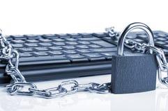 Computer Keyboard And Lock Stock Image
