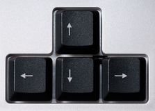Computer keyboard, arrows zone Royalty Free Stock Photography
