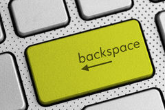 Computer keyboard backspace button Royalty Free Stock Photos