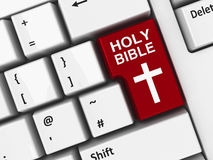 Computer keyboard bible Royalty Free Stock Photography