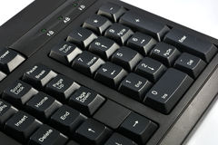 Computer keyboard. Black Computer keyboard on white background Stock Photos
